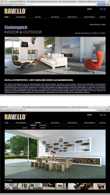 Ravello, Programmierung der Webseite