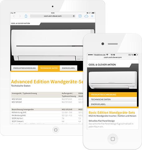 Webentwicklung, Konzeption - Cool & Clever Aktion