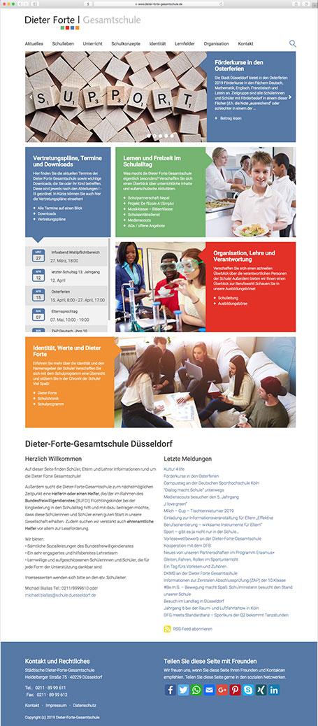 Webseite Dieter-Forte-Gesamtschule